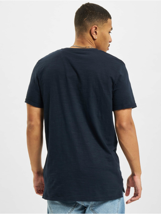 Jack & Jones Tričká Jprblabeach Embroidery modrá