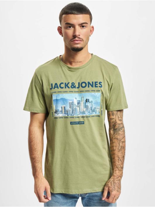 Jack & Jones Tričká Jcobooster olivová