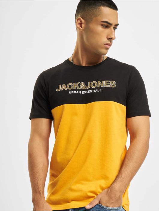 Jack & Jones Trika Jjeurban Blocking O-Neck oranžový