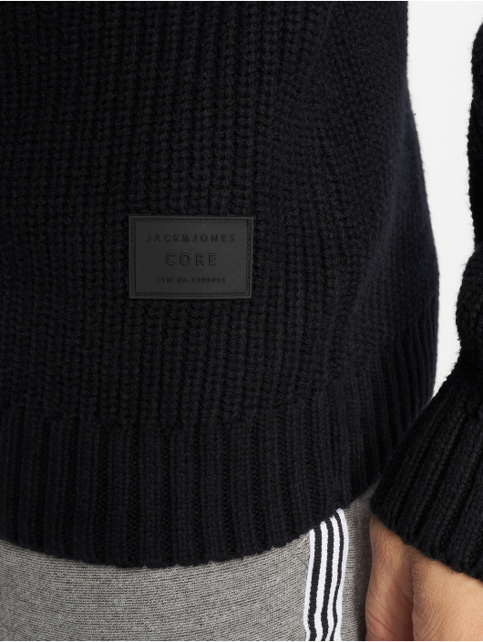 Jack & Jones Tröja jcoMemphis Knit Shawl svart