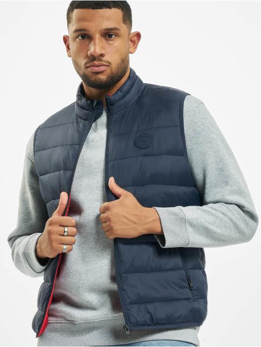 Jack & Jones Vest jeMagic Bodywarmer Collar blue