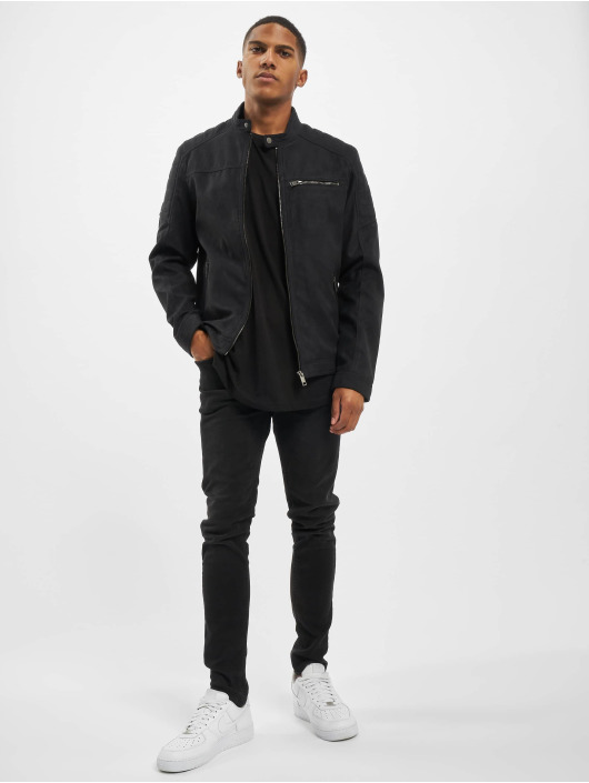 Jack & Jones Veste & Blouson en cuir jjeRocky Noos Leather noir
