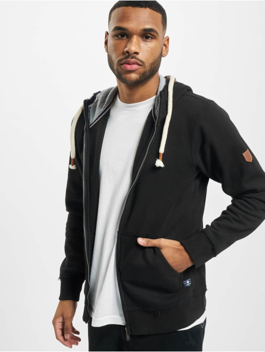 Jack & Jones Vetoketjuhupparit jprBlutom High Neck musta
