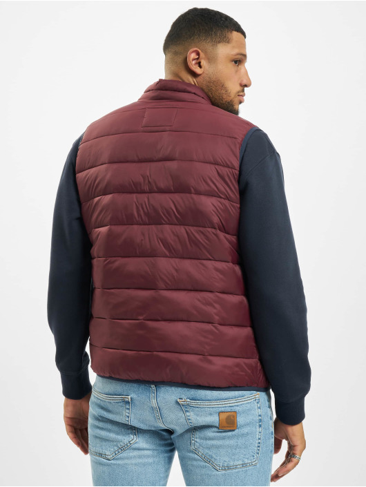 Jack & Jones Weste jjeMagic Bodywarmer Collar rot
