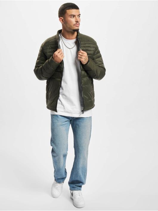 Jack & Jones Winter Jacket Jjeace Collar Puffer green