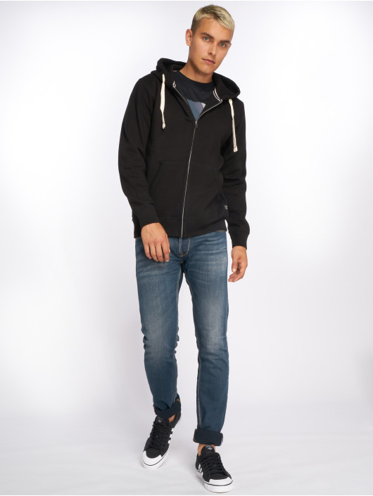 Jack & Jones Zip Hoodie jjeSpace black