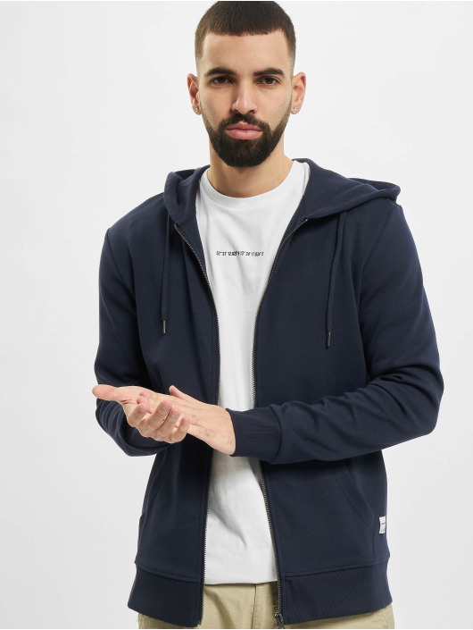 Jack & Jones Zip Hoodie jjeBasic Noos blau