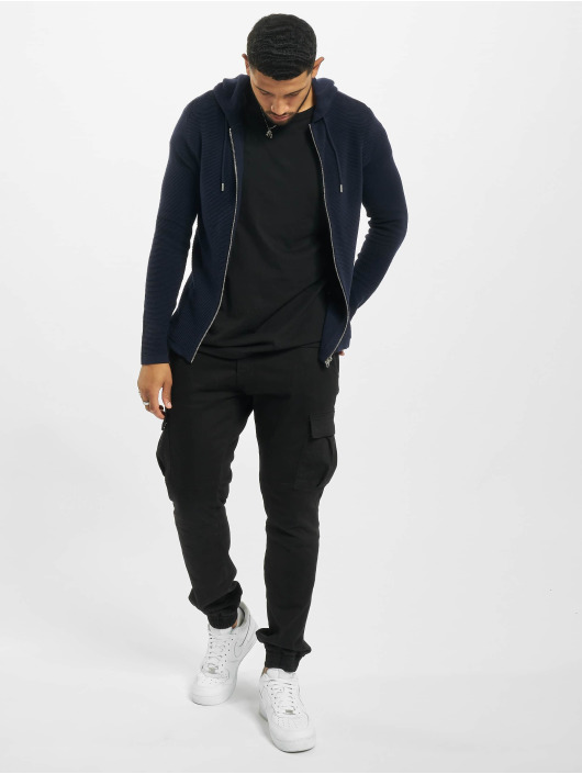 Jack & Jones Zip Hoodie jjeLiam Knit Noos blue