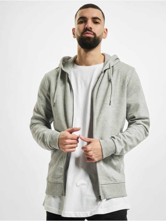 Jack & Jones Zip Hoodie jjeBasic Noos grau