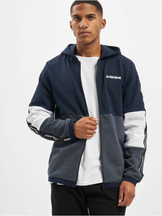 Jack & Jones Zip Hoodie jcoKally niebieski