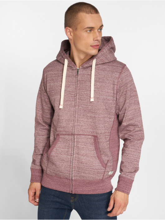 Jack & Jones Zip Hoodie jjeSpace red
