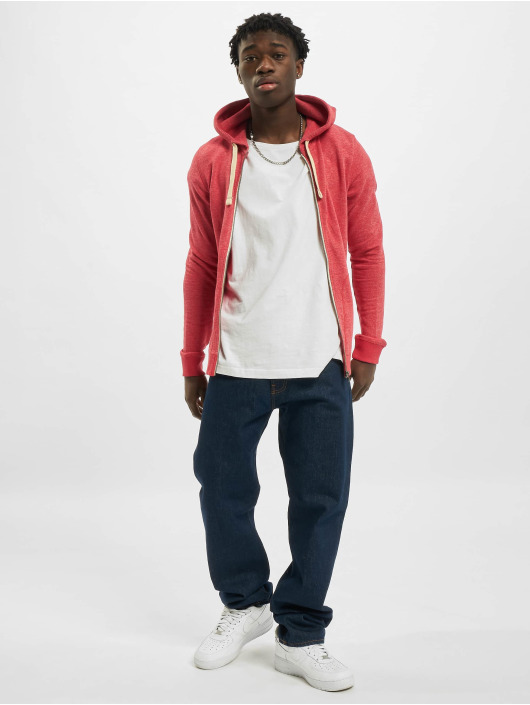 Jack & Jones Zip Hoodie jjvRecycle rot