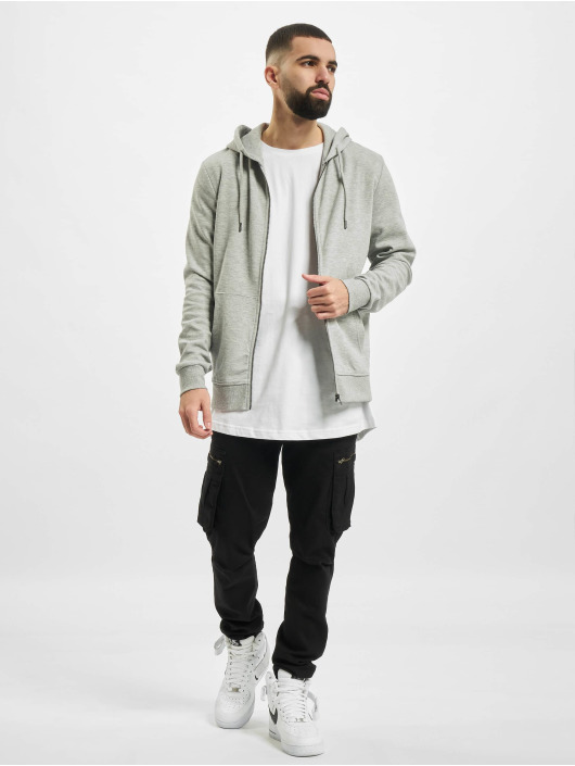 Jack & Jones Zip Hoodie jjeBasic Noos szary