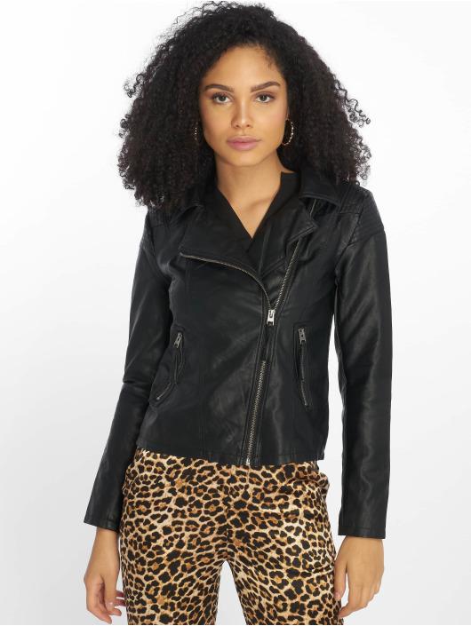 JACQUELINE de YONG Leather Jacket jdyDana Faux black
