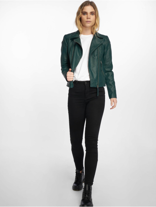 JACQUELINE de YONG Leather Jacket jdyDana Faux Leather green