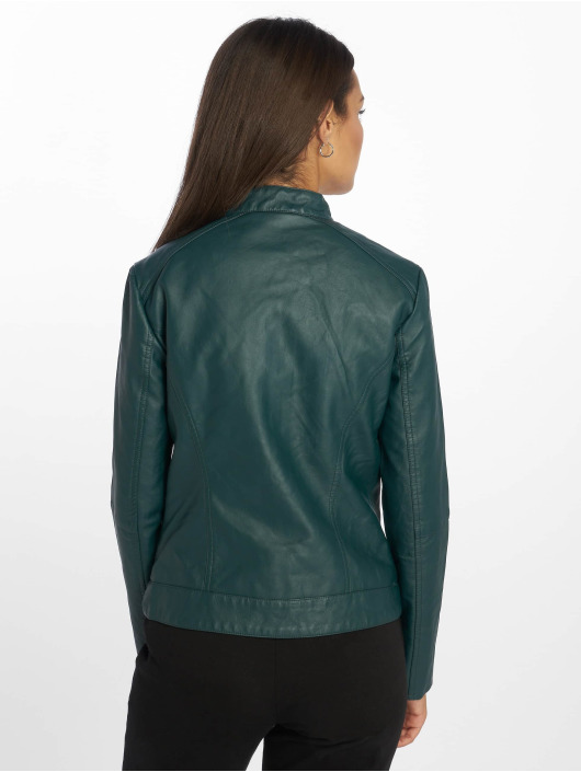 JACQUELINE de YONG Leather Jacket jdyDallas green