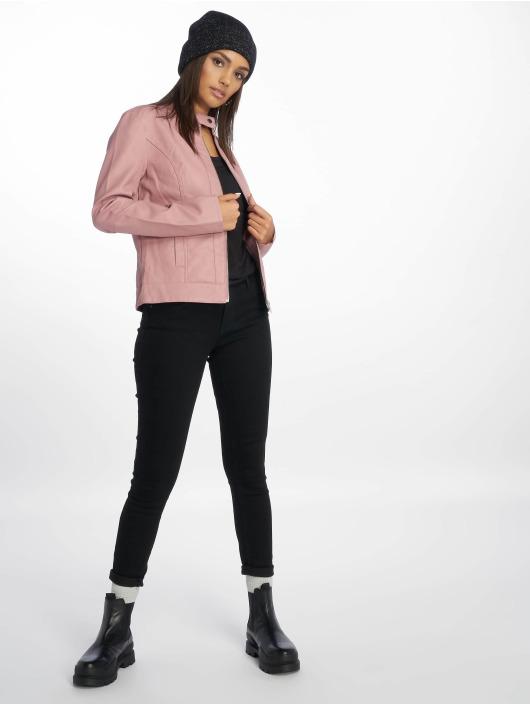 JACQUELINE de YONG Leather Jacket jdyDallas rose