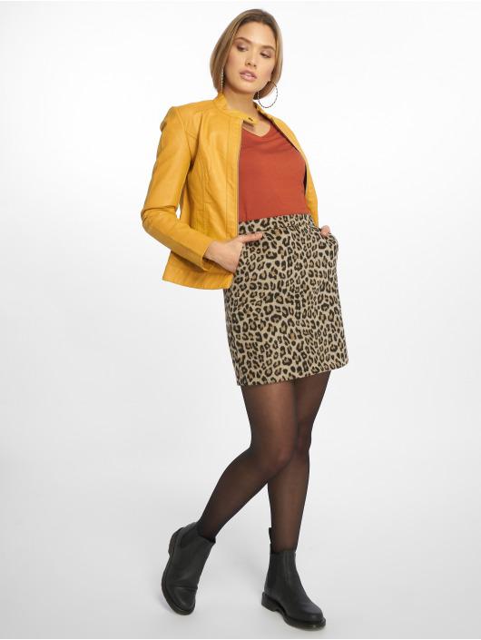 JACQUELINE de YONG Leather Jacket jdyDallas yellow