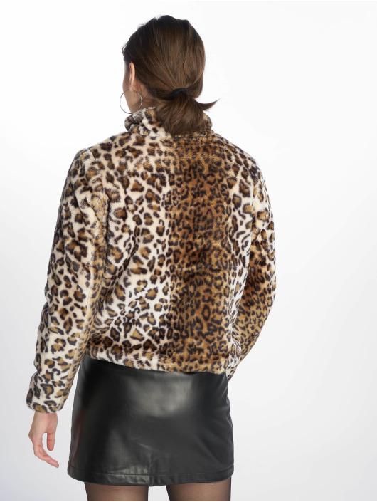 JACQUELINE de YONG Lightweight Jacket jdyFrodo Leo Short Fake Fur brown