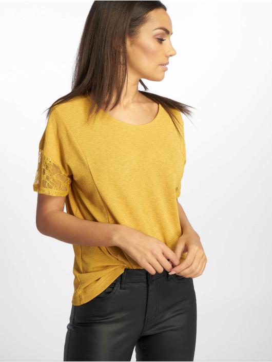 JACQUELINE de YONG t-shirt jdyApple Lace Jersey geel