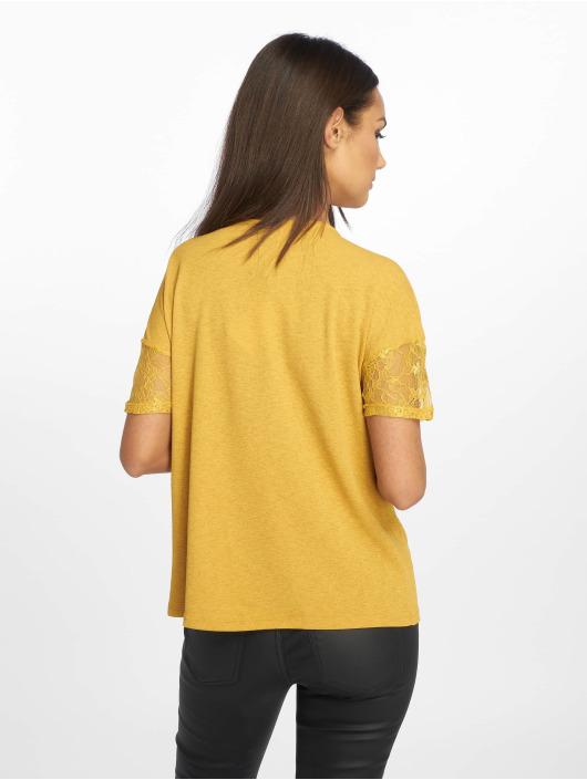 JACQUELINE de YONG T-Shirt jdyApple Lace Jersey jaune