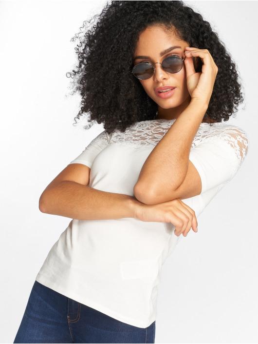JACQUELINE de YONG T-Shirt jdyDomino Lace white