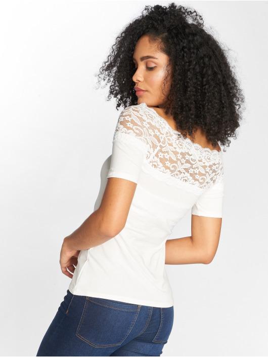 JACQUELINE de YONG T-shirts jdyDomino Lace hvid