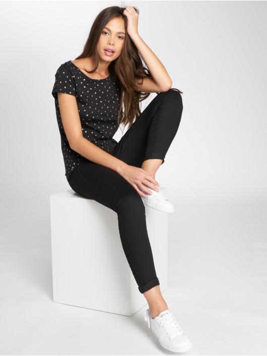 JACQUELINE de YONG T-Shirty jdySuri Glitter czarny