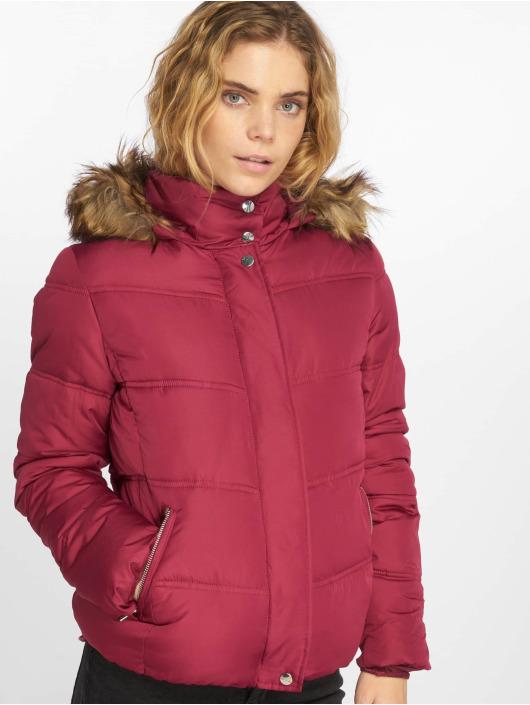 Jacqueline De Yong jdyElena Padded Transition Jacket Red Plum