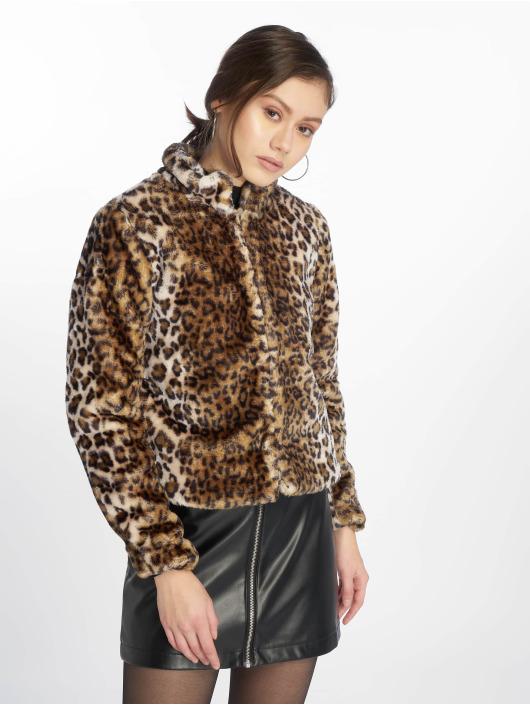 JACQUELINE de YONG Veste mi-saison légère jdyFrodo Leo Short Fake Fur brun