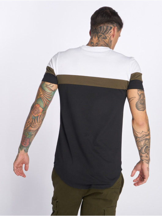 John H T-Shirt Stripes blanc