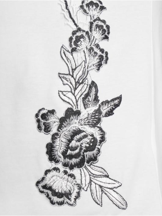 John H T-Shirt Flowers blanc