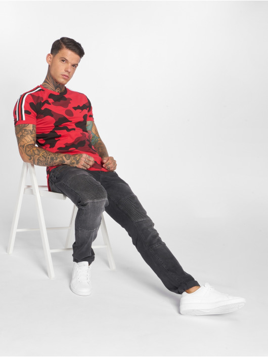 John H T-Shirt Camoulook rouge