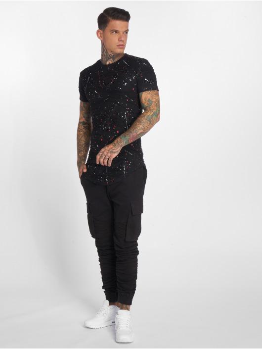 John H T-Shirt Colorblobs schwarz