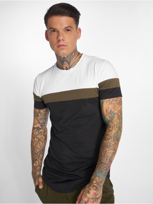 John H T-Shirt Stripes weiß