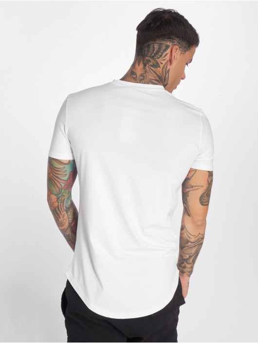 John H T-Shirt Flowers white