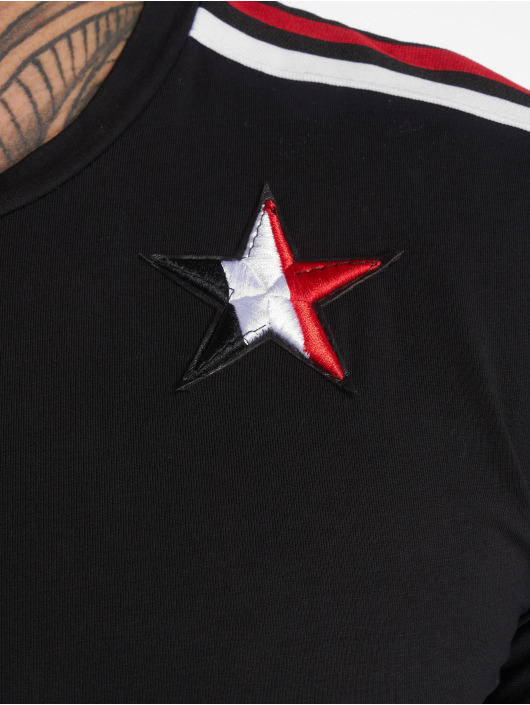 John H T-Shirty Stars czarny