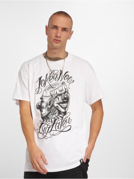 Joker T-shirts Masks hvid