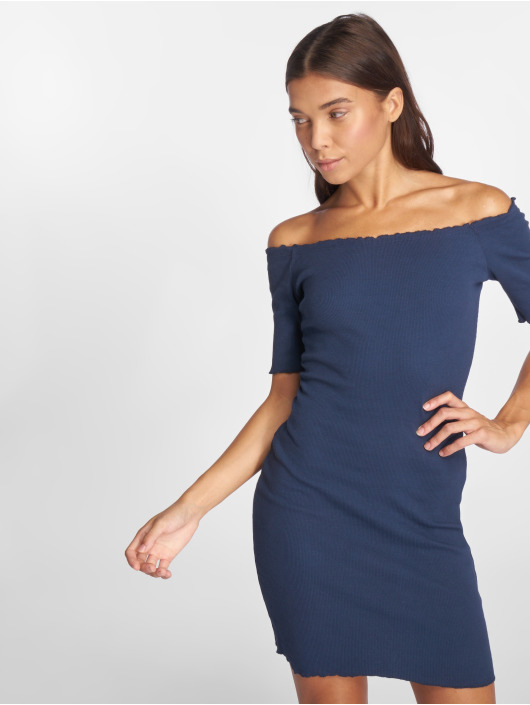Joliko Kleid Ripp blau