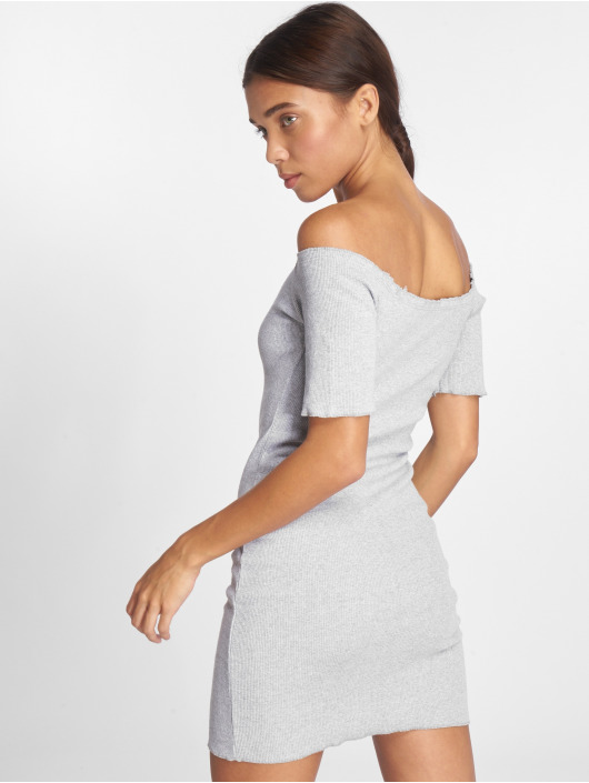 Joliko Kleid Ripp grau