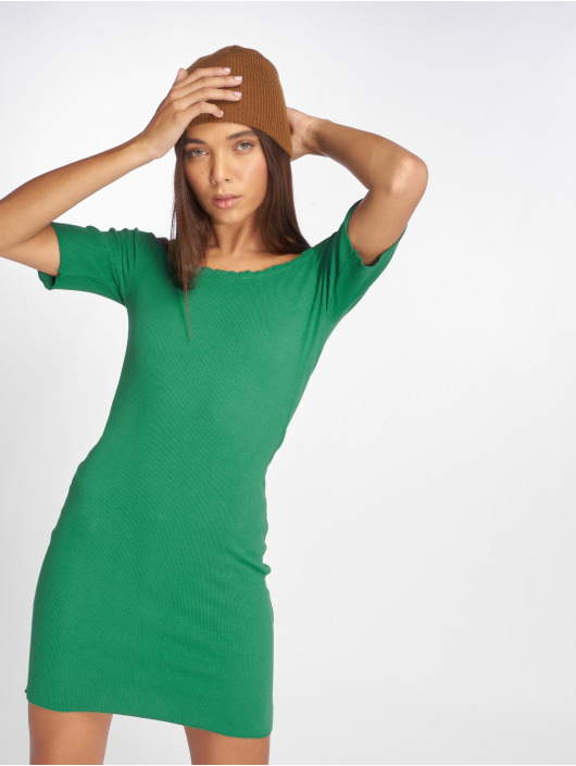 Joliko Kleid Ripp grün