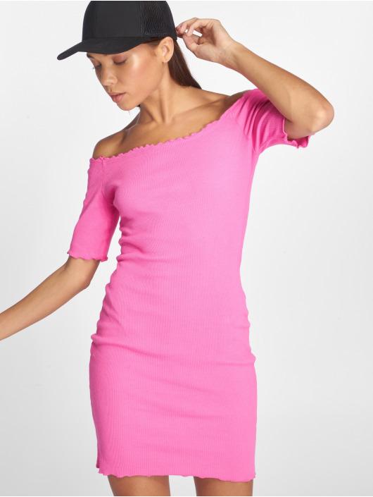 Joliko Kleid Ripp pink