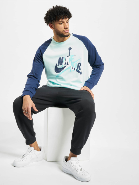 Jordan Пуловер Jumpman Classics Fleece Crew бирюзовый