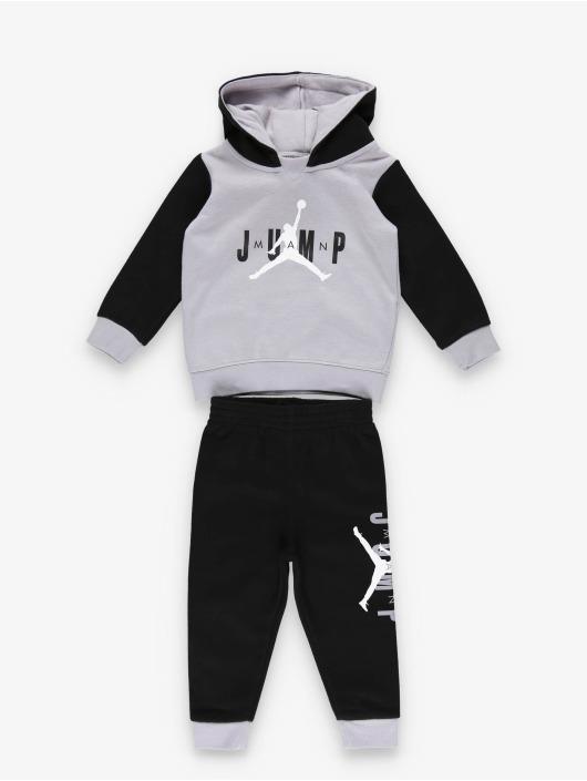 Jordan Anzug Jumpman Sideline Pullover & Jogger schwarz