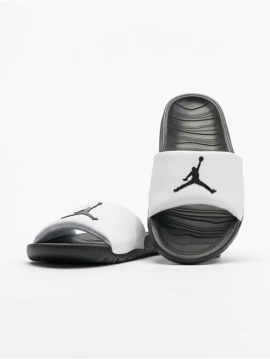Jordan Badesko/sandaler Break Slide hvit