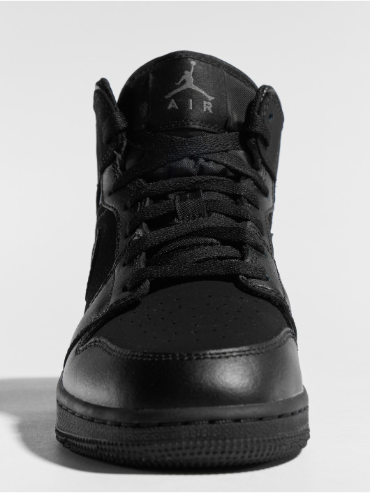 Jordan Baskets Air Jordan 1 Mid (GS) noir