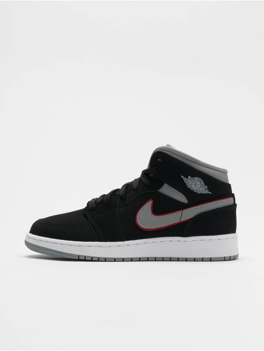 Jordan Baskets Air Jordan 1 Mid (GS) noir