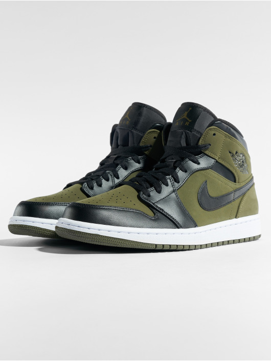 ... Jordan Baskets Air Jordan 1 Mid olive ...