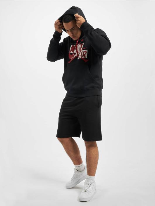 Jordan Bluzy z kapturem Fleece czarny