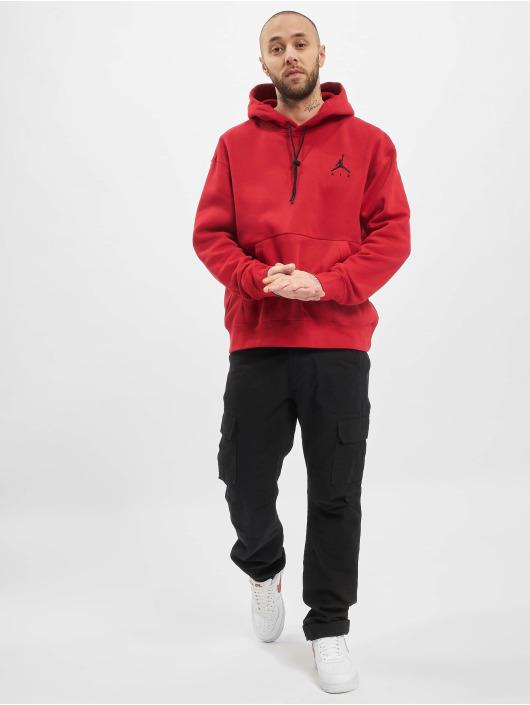 Jordan Bluzy z kapturem Jumpman Air czerwony